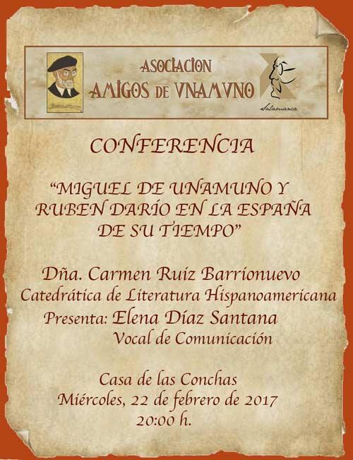 Miguel de Unamuno y Rubén Darío en la España de su tiempo @ Salamanca   Castilla y León   España