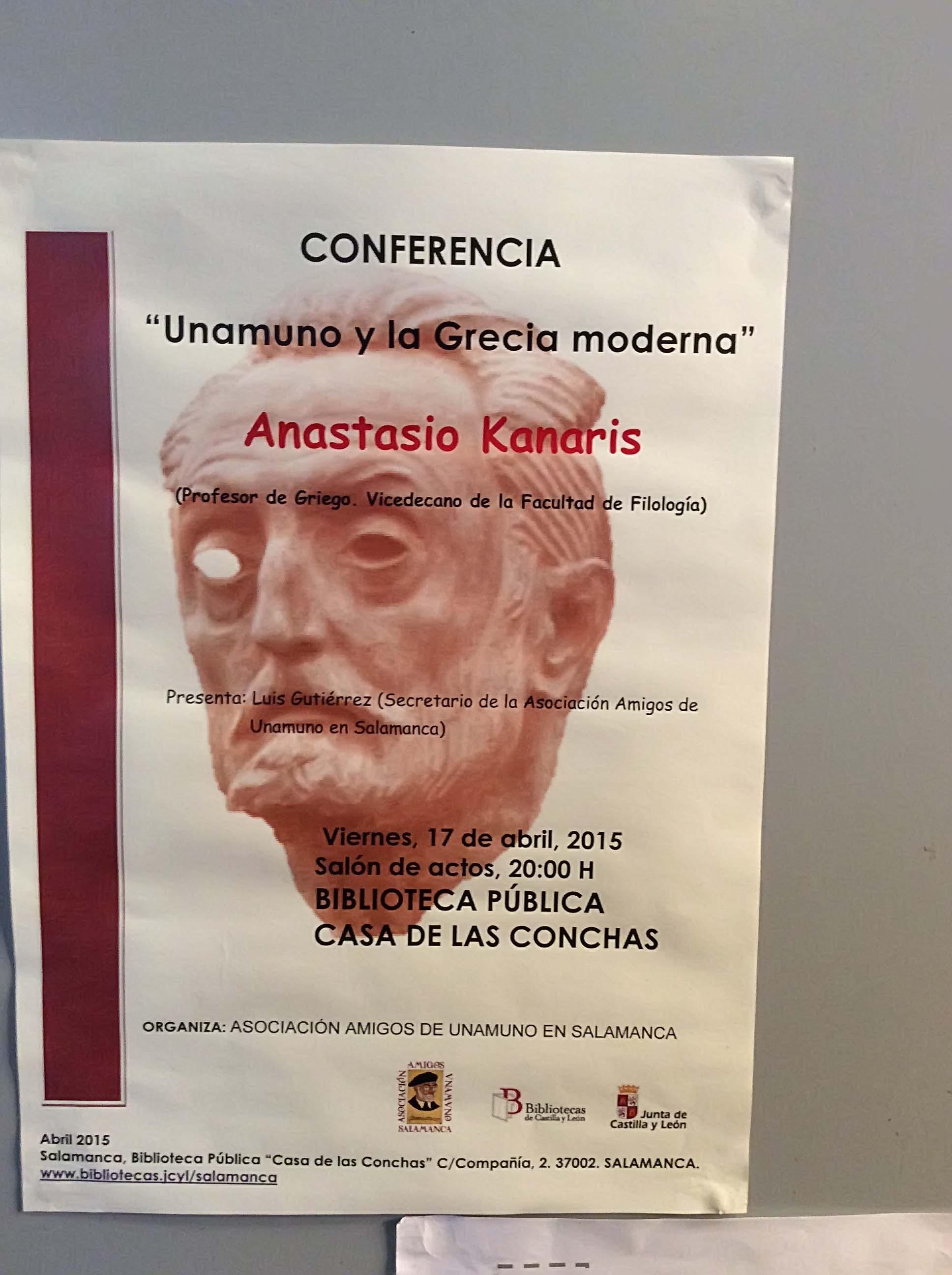 Conferencia: Unamuno y la Grecia Moderna