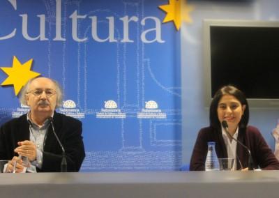 Conferencia Antonio Colinas y Elena Díaz Santana