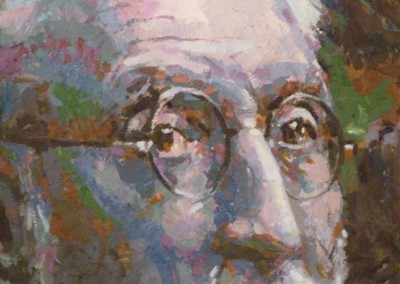 Detalle de retrato Unamuno - Florencio Maillo
