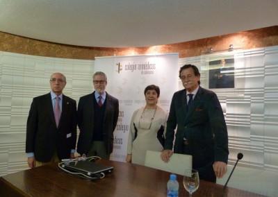 Manuel Gómez Benito, Francisco Blanco Prieto, Consuelo del Cañizo y Juan Antonio González González