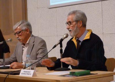 Jesús Gómez Blázquez y Francisco Blanco en Unamuno en Becedas