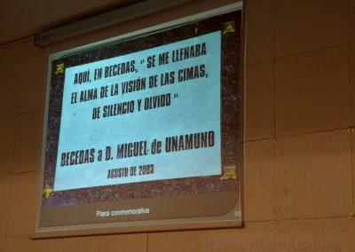 Placa en homenaje a Unamuno en Becedas