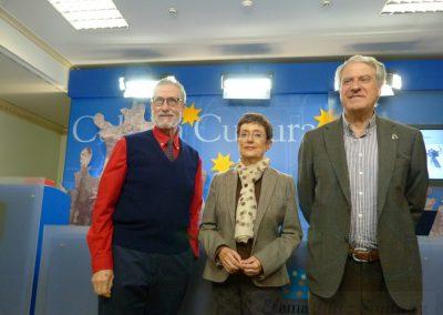 Franciso Blanco, María Jesús Mancho Duque y Jesús Málaga