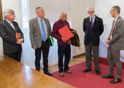 Román Álvarez, Luis Andrés Marcos,  Luis Gutiérrez,  Francisco Blanco y Ricardo Rivero