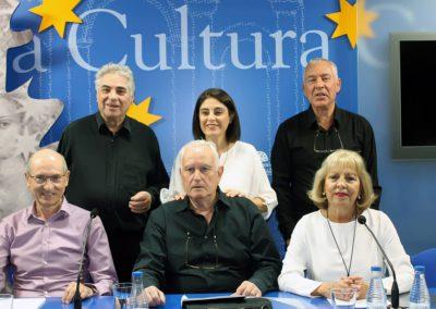 Félix Montes, Manuel Andrés, J.Mª S. Terrones, Elena Díaz, Luis Gutiérrez y Mª Ángeles Gutiérrez