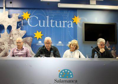 Félix Montes,  J.Mª S. Terrones, Mª Ángeles Gutiérrez y Manuel Andrés