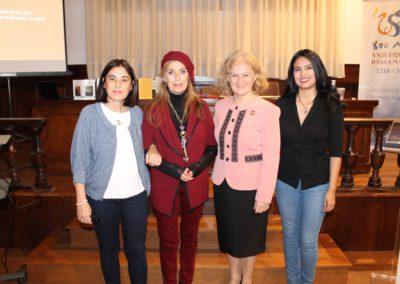 Elena Díaz, Carmen Prada, Carmen Bulzan y Maribel Hernández