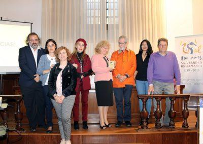 Alfredo Pérez Alencart, Elena Díaz Santana, Arantxa Agudo, Carmen Prada, Carmen Bulzan, Francisco Blanco, Maribel Hernández y Pablo Unamuno