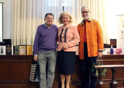 Pablo Unamuno, Carmen Bulzan y Francisco Blanco