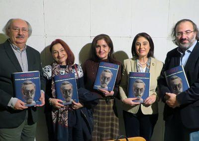 Antonio Colinas, Mª José Marcos, Jaqueline Alencar, Elena Díaz y Alfredo P. Alencart