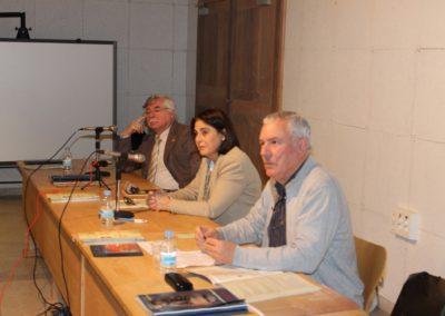 Román Álvarez, Elena Díaz Santana y Luis Gutiérrez Barrio
