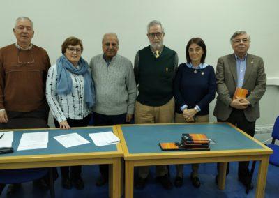 Luis Gutierrez, Pilar Hernández. Luis Andrés, Francisco Blanco, Elena Díaz y Román Álvarez