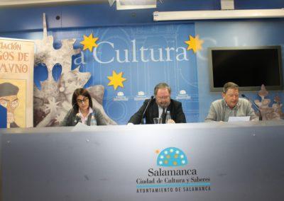 Elena Díaz Santana, José Manuel Regalado y Pablo unamuno