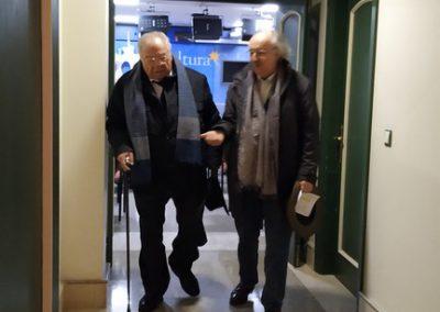 Ángel García López y Antonio Colinas